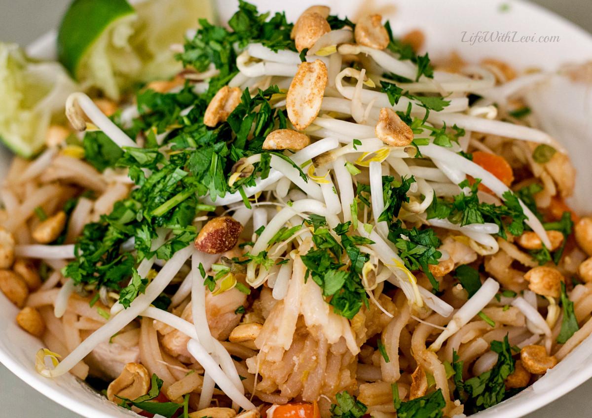 Easy Chicken Pad Thai Recipe  Easy Chicken Pad Thai Recipe Life With Levi