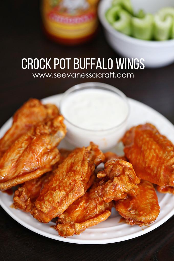 Easy Chicken Wings Recipe  Recipe Easy Crock Pot Buffalo Wings See Vanessa Craft
