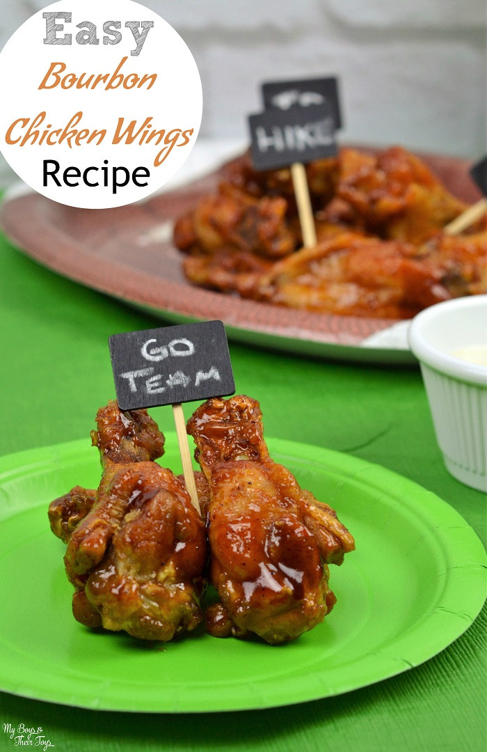 Easy Chicken Wings Recipe  Easy Bourbon Chicken Wings Recipe My Boys and Their Toys