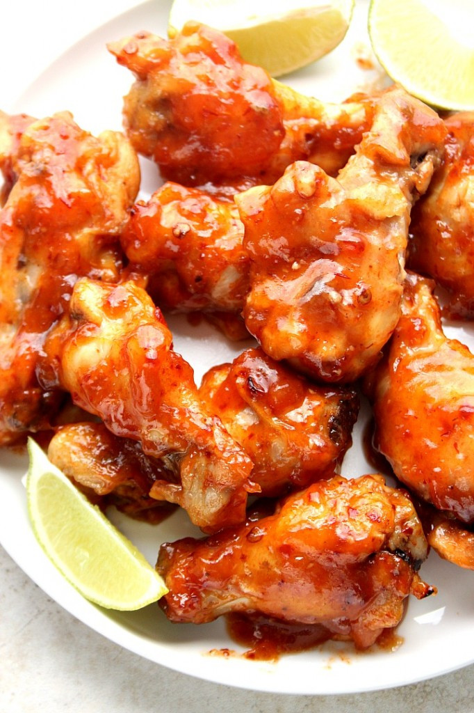 Easy Chicken Wings Recipe  Sweet and Spicy Crock Pot Chicken Wings Recipe Crunchy