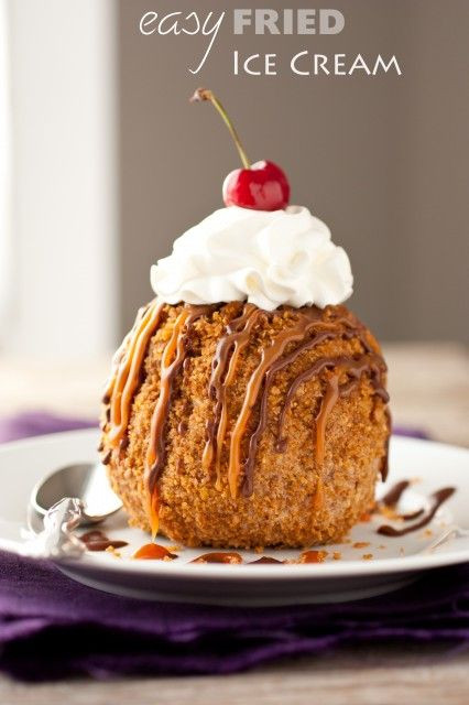 Easy Chinese Desserts  easy fried ice cream Food and drink Pinterest