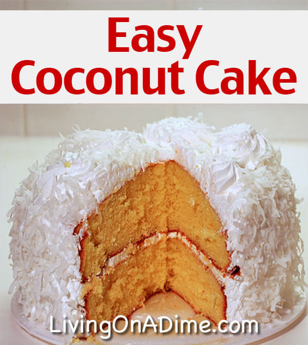 Easy Coconut Cake  easy coconut cake recipes with cake mix