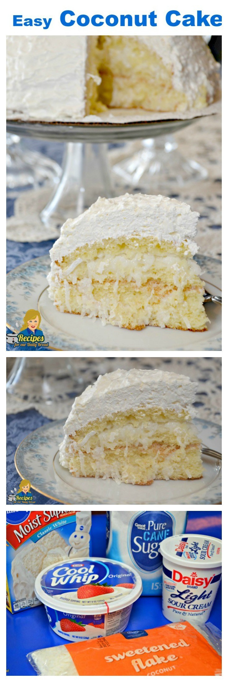 Easy Coconut Cake  Easy Coconut Cake using 5 simple ingre nts