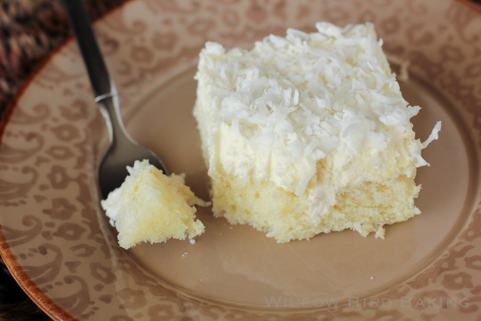 Easy Coconut Cake  Easy Coconut Sheet Cake with Whipped Coconut Icing