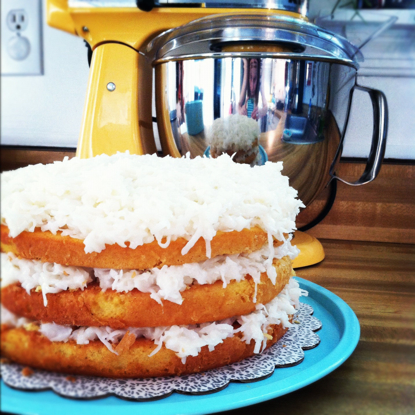 Easy Coconut Cake  Little Bit Funky what i made for monday on friday for