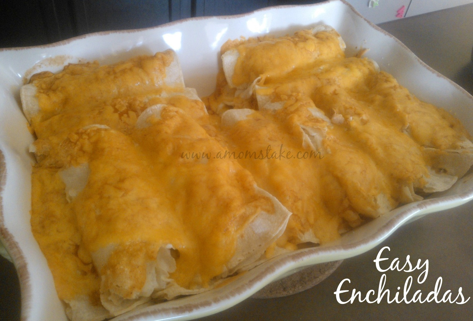 Easy Dinner Recipe  Easy Dinner Recipes Easy Chicken Enchilada Recipe A Mom