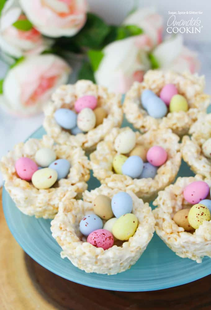 Easy Easter Dessert Recipes  Rice Krispie Nests a quick and easy no bake Easter treat
