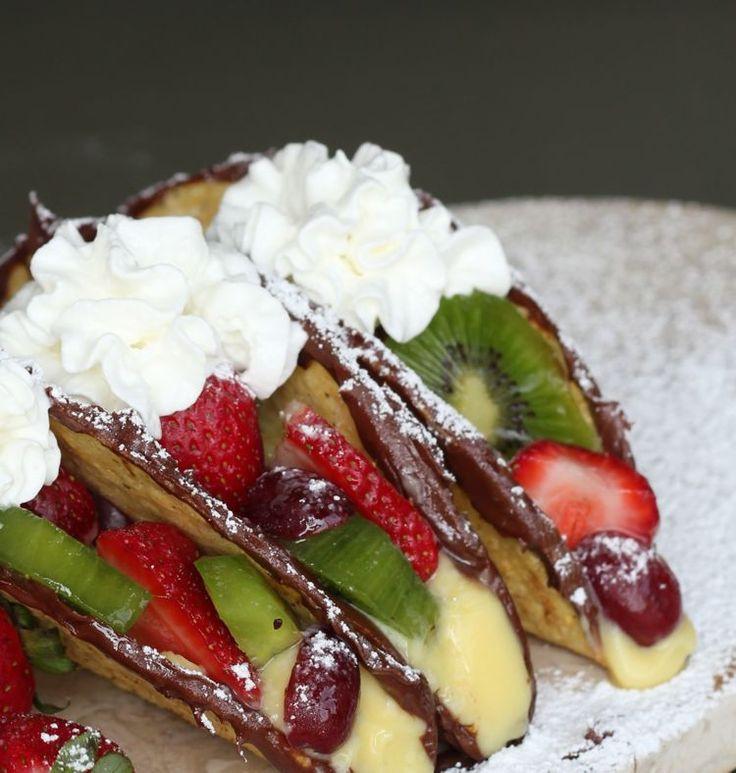 Easy Fruit Desserts  EASY NO BAKE NUTELLA & FRUIT DESSERT TACOS