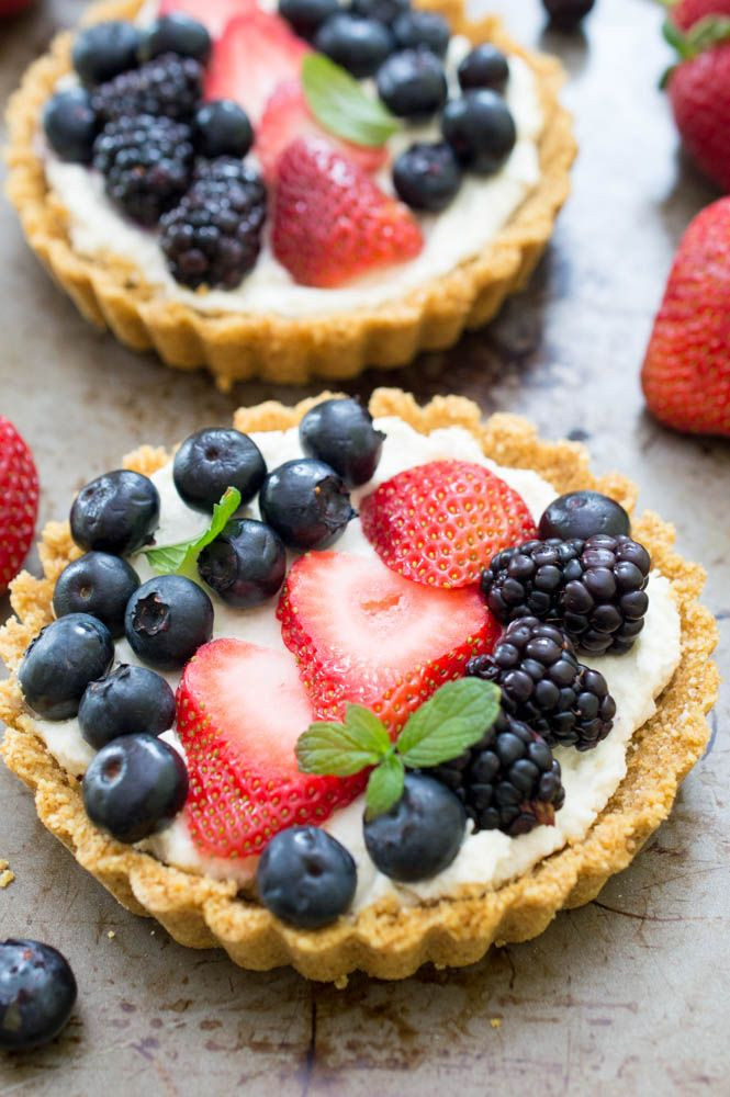 Easy Fruit Desserts  Check out No Bake Mascarpone Cheese Fruit Tarts It s so