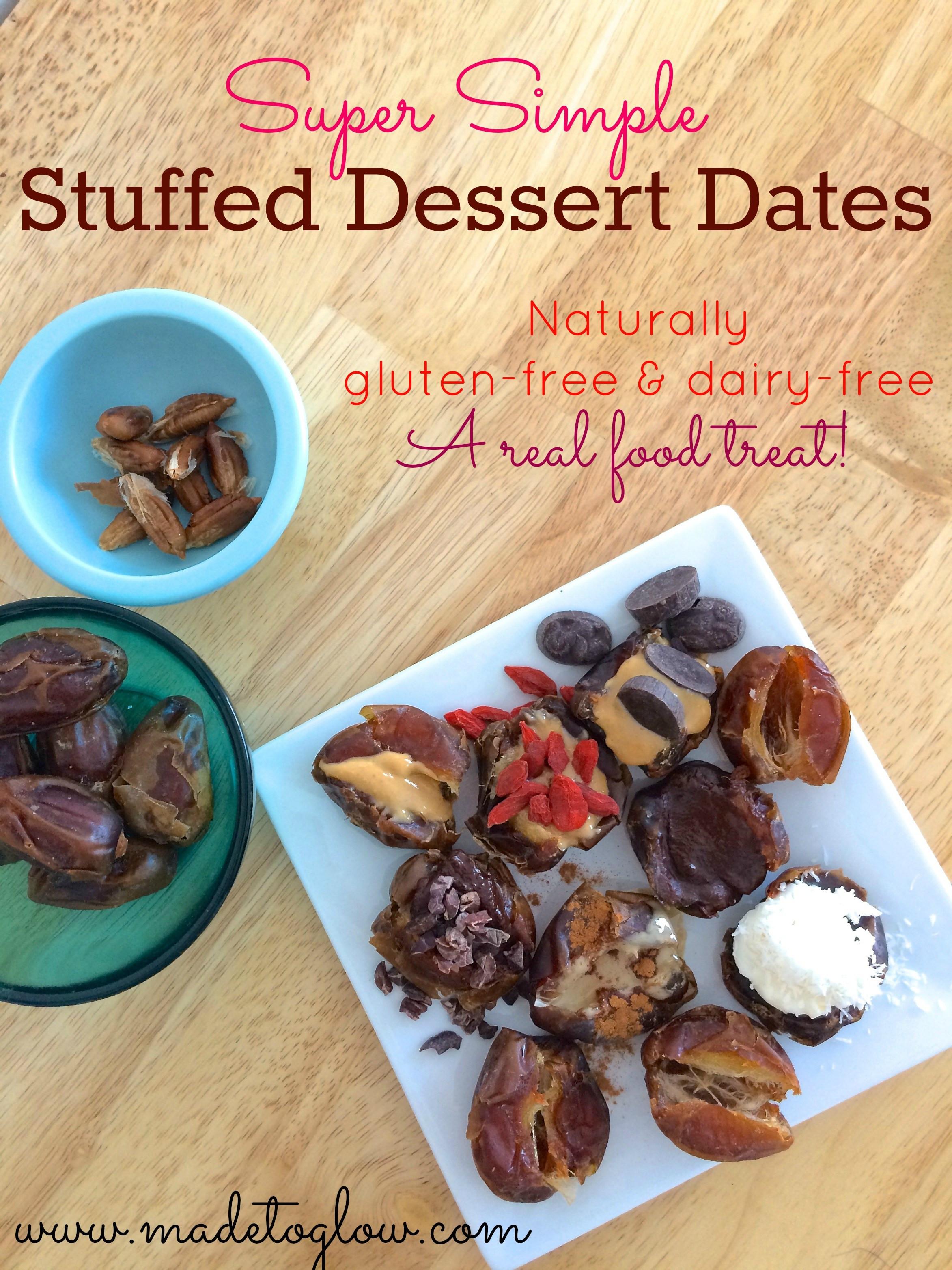 Easy Gluten And Dairy Free Desserts  Super Simple Stuffed Dessert Dates Gluten free and Dairy