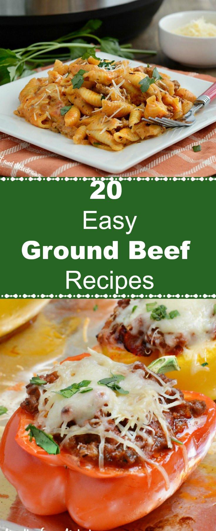 Easy Ground Beef Recipes  20 Easy Ground Beef Recipes Meatloaf and Melodrama