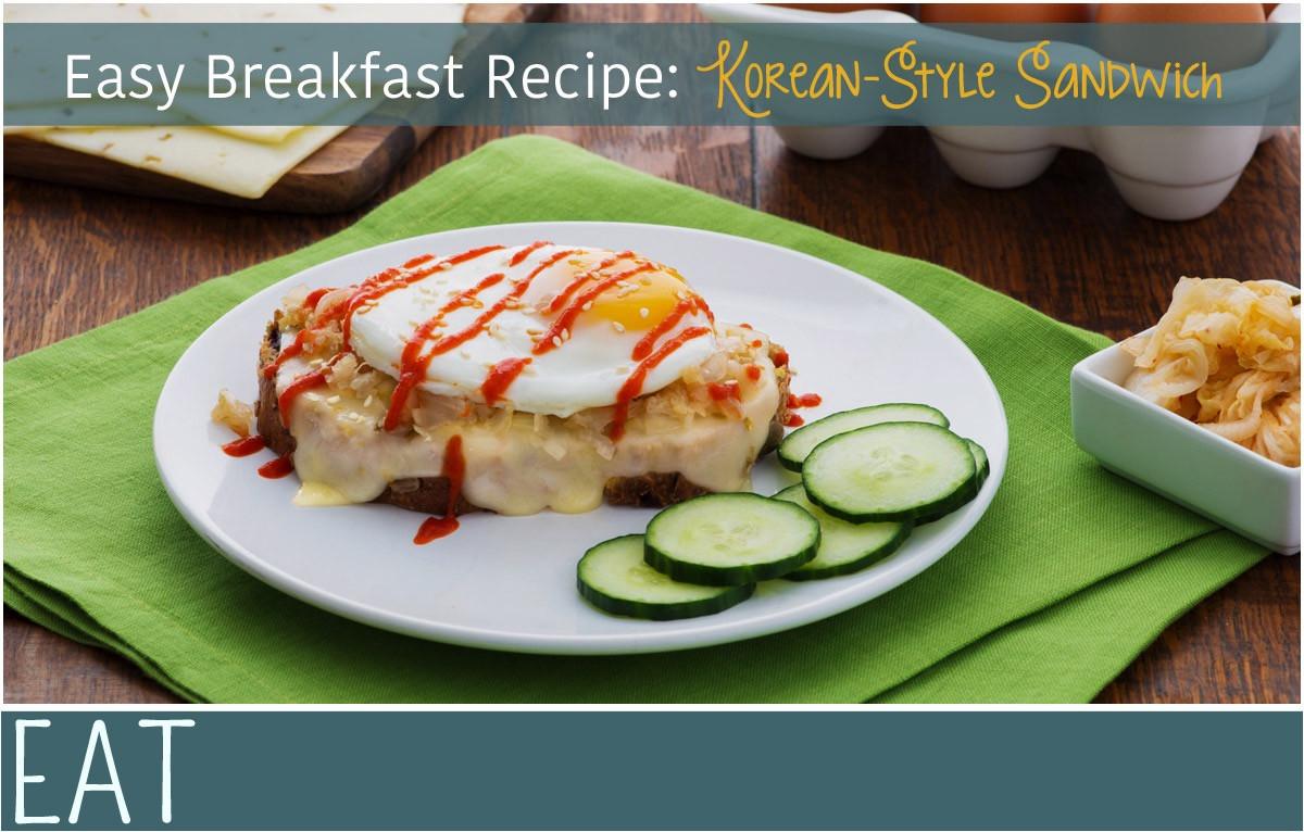 Easy Korean Breakfast Recipes  Korean Style Breakfast Sandwich Recipe EverythingMom