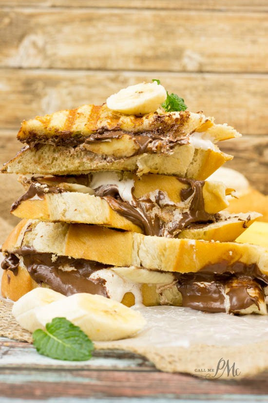 Easy Nutella Desserts  Easy Nutella Dessert Panini Call Me PMc