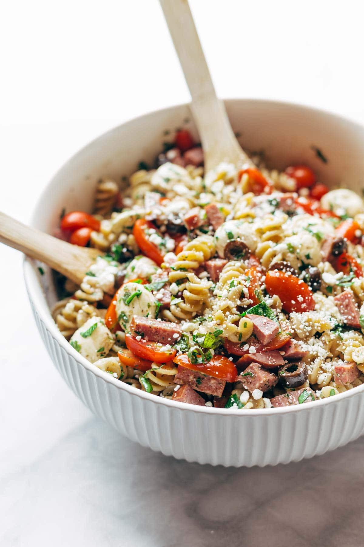 Easy Pasta Salad Recipes  Best Easy Italian Pasta Salad Recipe Pinch of Yum