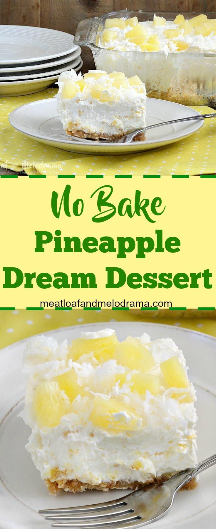 Easy Pineapple Desserts  easy pineapple dessert no bake