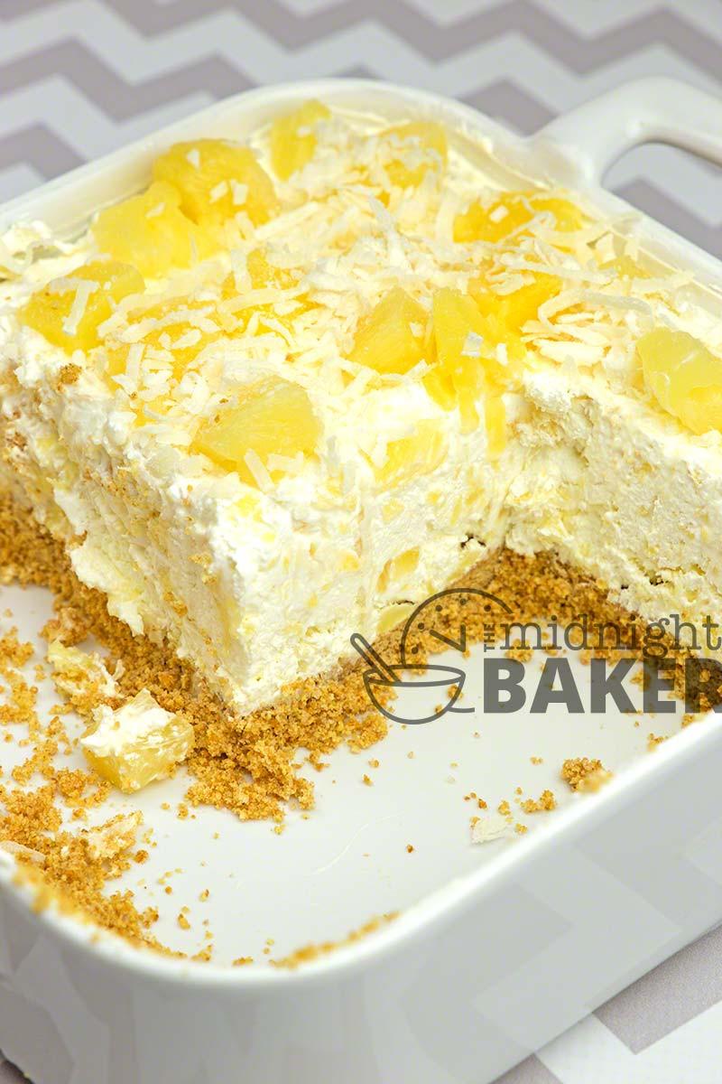 Easy Pineapple Desserts  No Bake Pineapple Cream Dessert The Midnight Baker