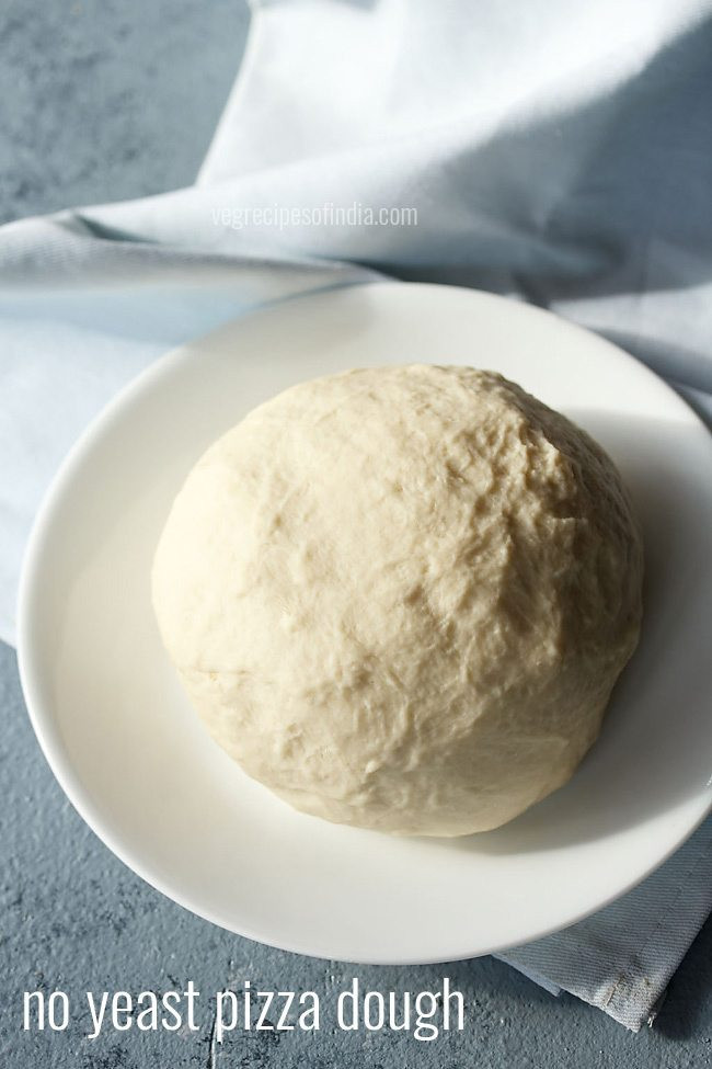Easy Pizza Dough Recipe Without Yeast  no yeast pizza dough recipe