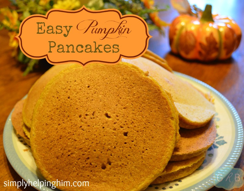 Easy Pumpkin Pancakes  Pumpkin Pancakes with Hearts for Home Link Up Simply