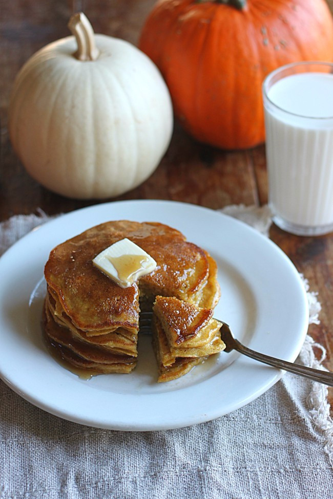 Easy Pumpkin Pancakes  Easy Pumpkin Pancakes with Golden Barrel Pancake Mix
