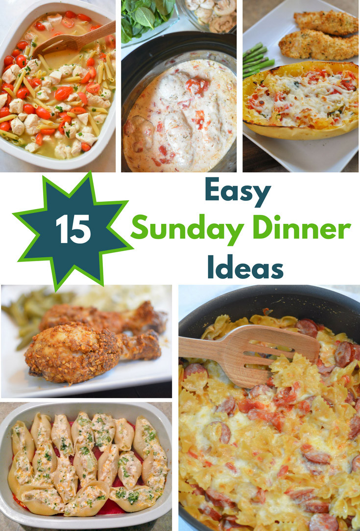 Easy Sunday Dinner  15 Easy Sunday Dinner Recipes Mommy s Fabulous Finds