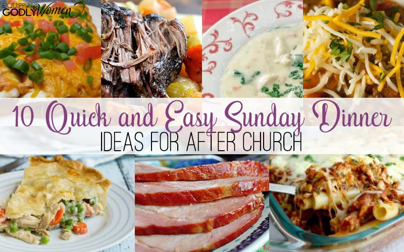 Easy Sunday Dinner  Homemaking