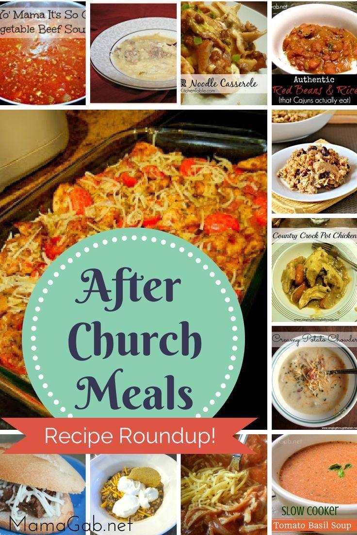 Easy Sunday Dinner  Recipe Roundup 1 Easy Dinners Pinterest
