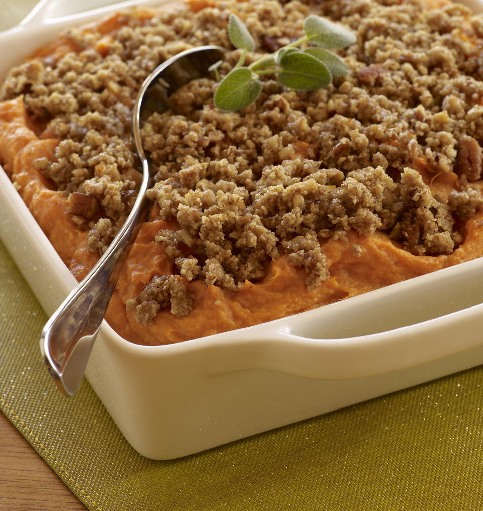 Easy Sweet Potato Casserole  Easy Sweet Potato Casserole With Pecan Streusel Topping