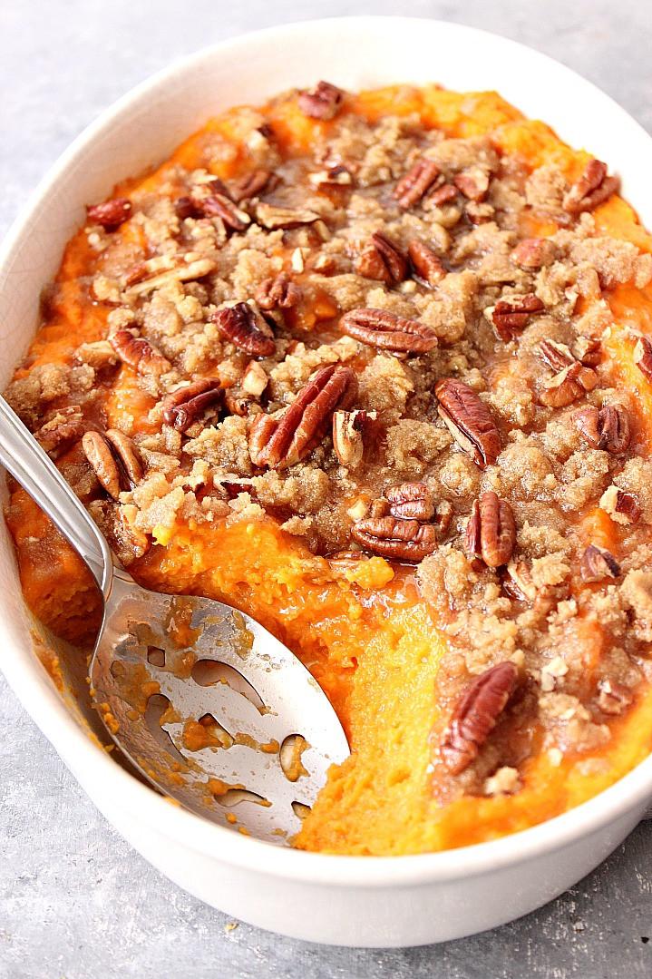Easy Sweet Potato Casserole  The Best Easy Sweet Potato Casserole Recipe Crunchy