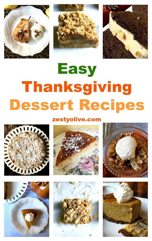 Easy Thanksgiving Dessert Recipes  Easy Thanksgiving Dessert Recipes Zesty Olive Simple