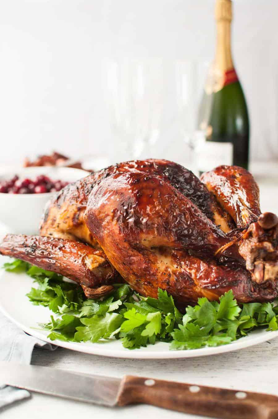 Easy Turkey Brine  Genius Easy Juicy Roast Turkey Dry Brined