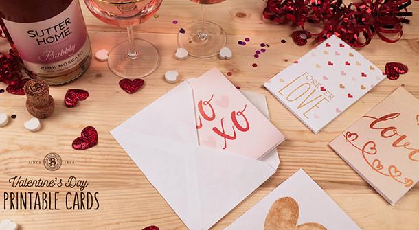Easy Valentine'S Day Desserts  DIY Printable Valentine's Day Cards