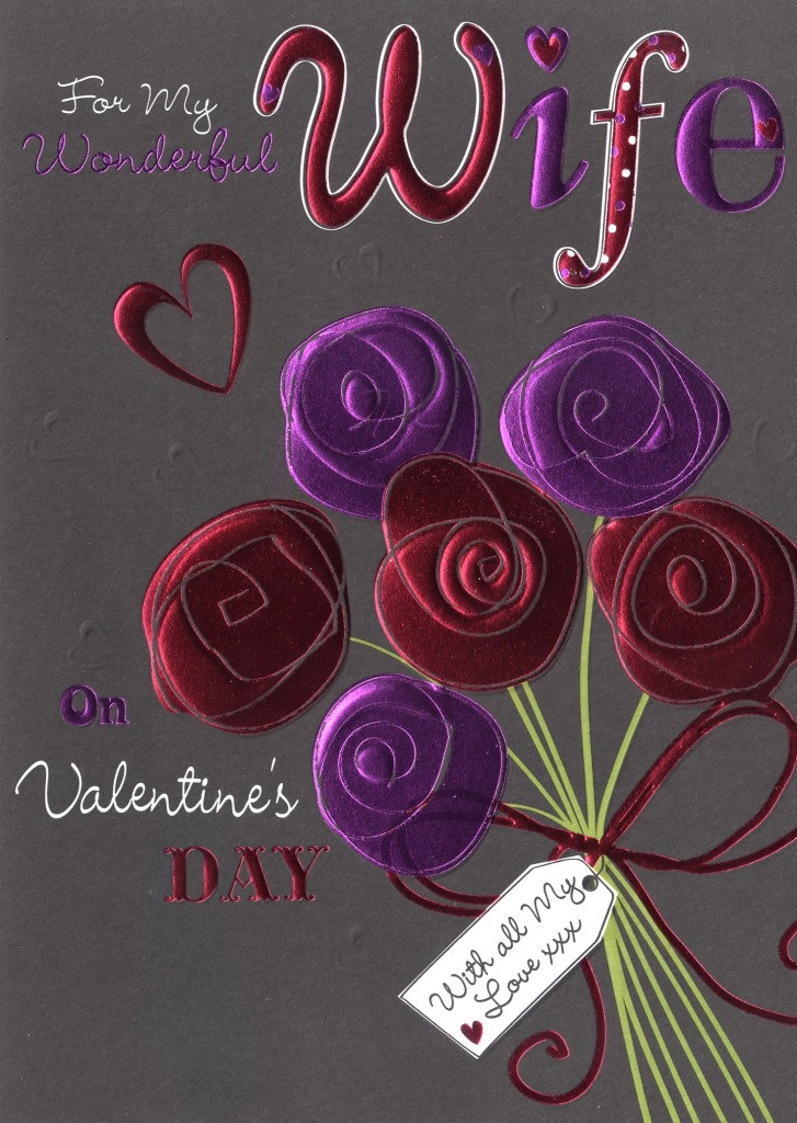 Easy Valentine'S Day Desserts  Wife Valentine s Day Card I Love You So Much Simple
