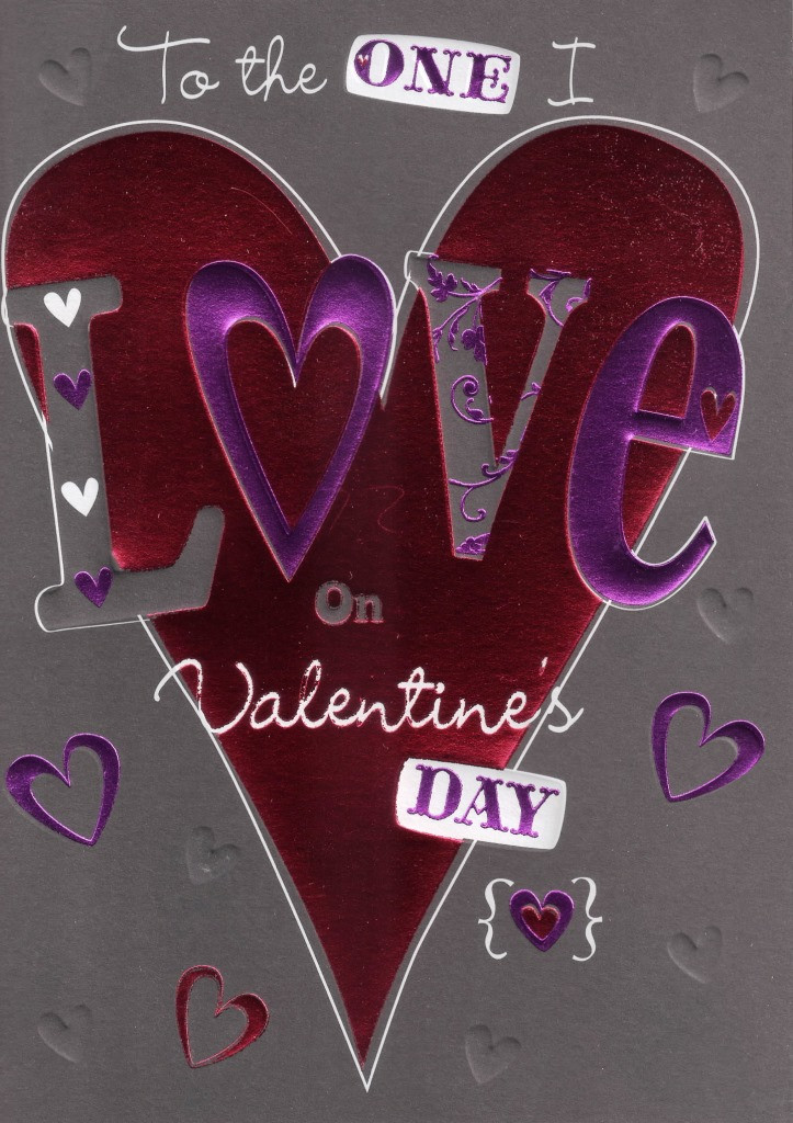 Easy Valentine'S Day Desserts  To The e I Love Valentine s Day Card Simple Quality