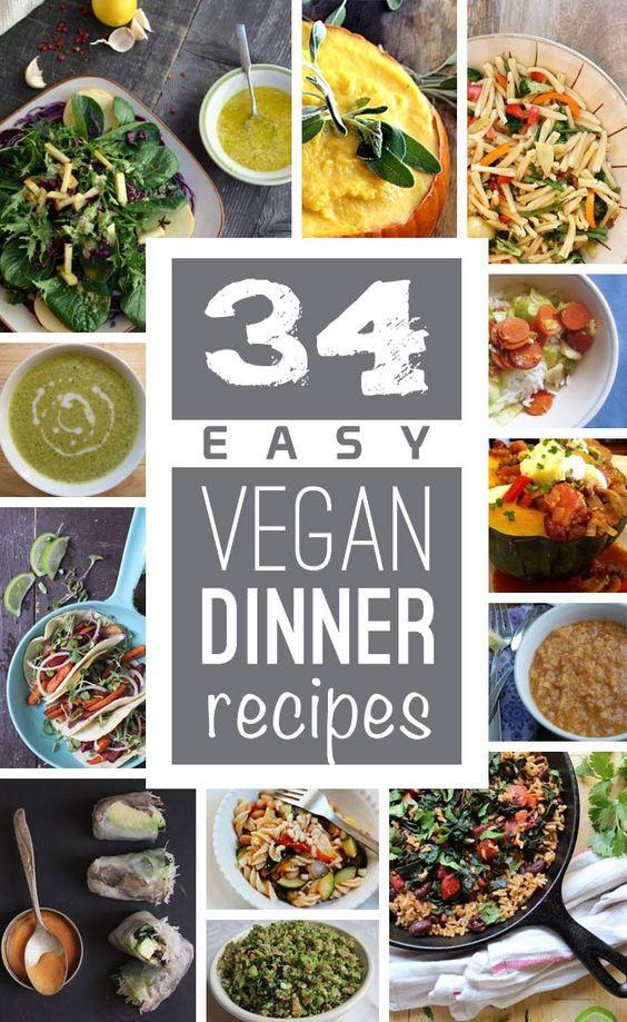 Easy Vegan Recipes For Dinner  Easy vegan dinner Vegan dinners and Vegans on Pinterest