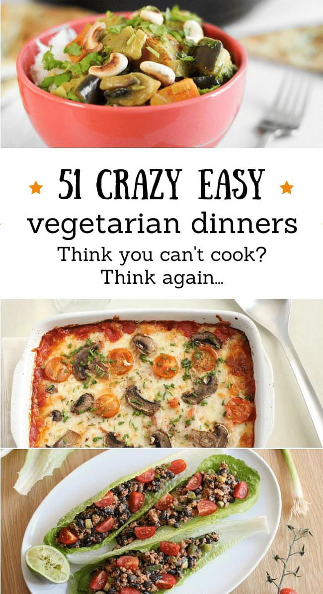 Easy Vegetarian Dinner Recipes  ve arian recipes easy