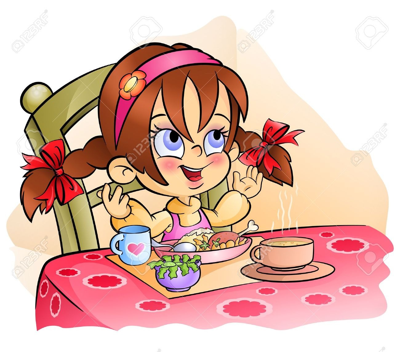Eating Dinner Clipart  Before eat clipart Clipground