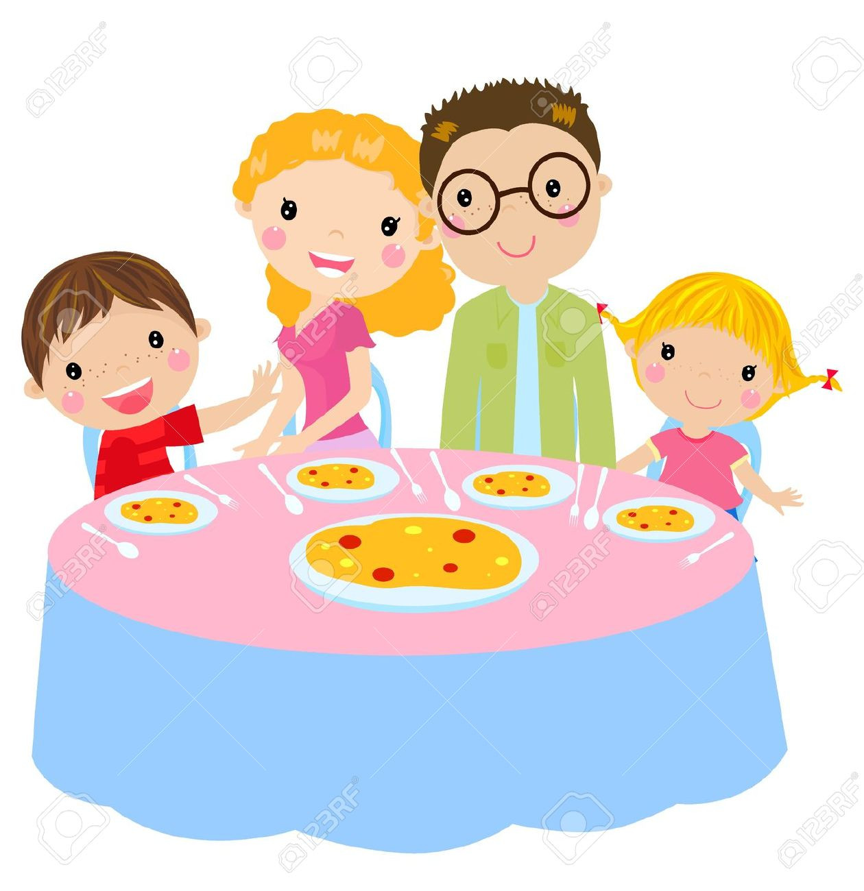 Eating Dinner Clipart  Lunch clipart family lunch Pencil and in color lunch
