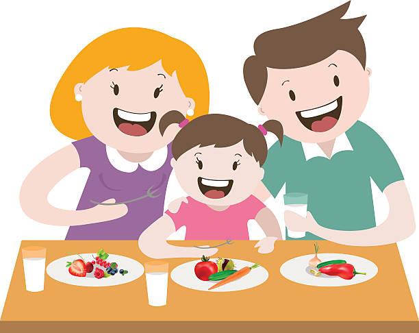 Eating Dinner Clipart  Royalty Free Eating Child Breakfast Cartoon Clip Art