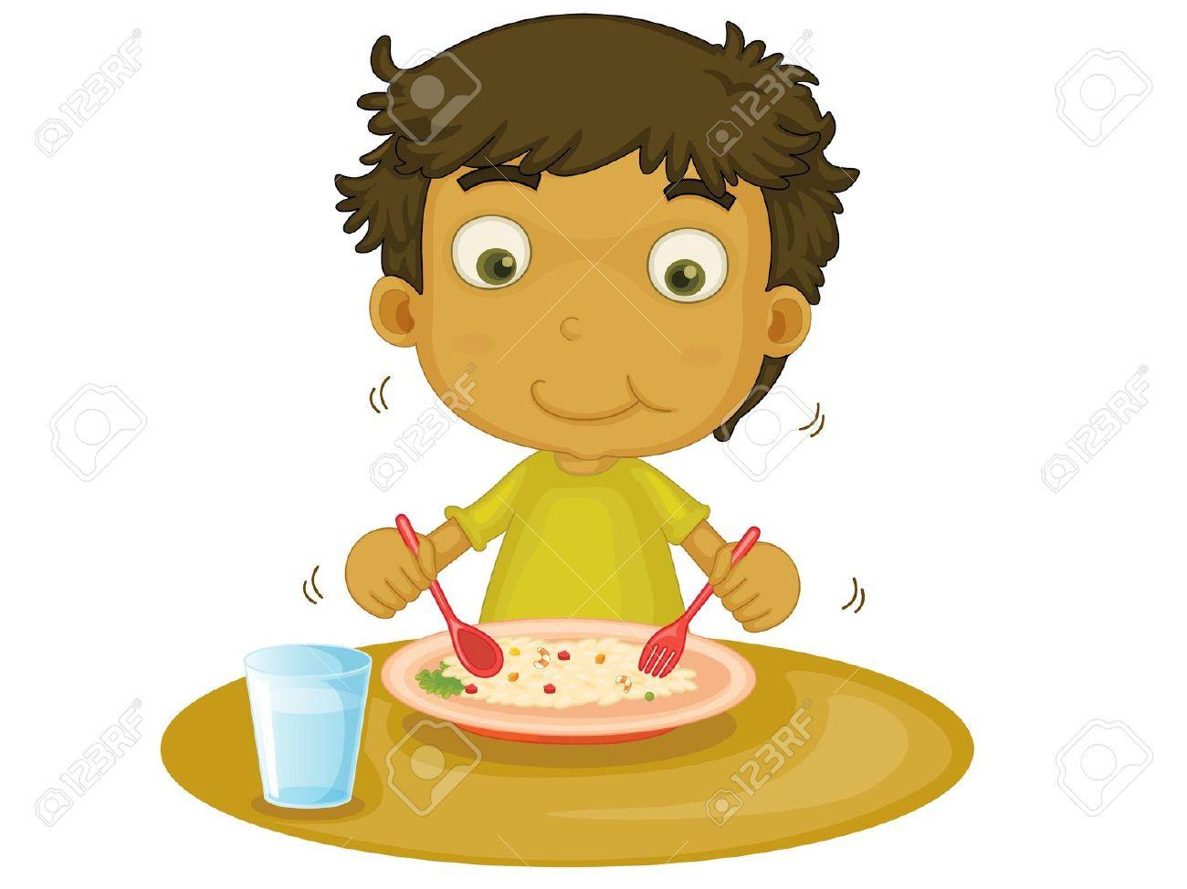 Eating Dinner Clipart  Child Eating Breakfast Clipart – 101 Clip Art