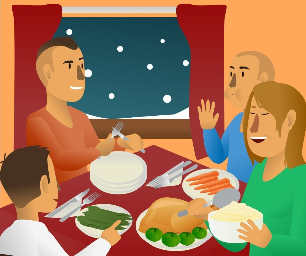 Eating Dinner Clipart  5 Dinner Options for Everyone – Food and Health munications
