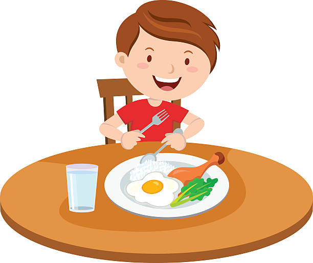 Eating Dinner Clipart  Eating Clip Art Vector & Illustrations iStock