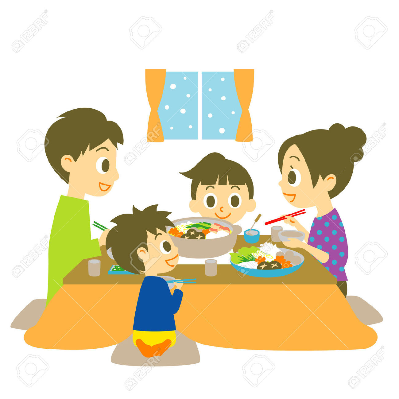 Eating Dinner Clipart  Family Dinner Clipart – 101 Clip Art