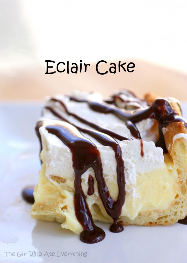 Eclair Cake Recipe  Weekly Menu Plan Recipe Girl