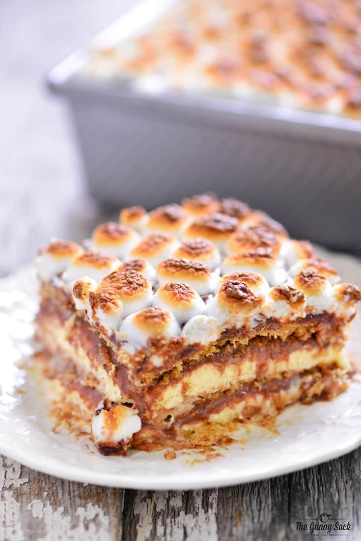 Eclair Cake Recipe  S mores Eclair Cake The Gunny Sack