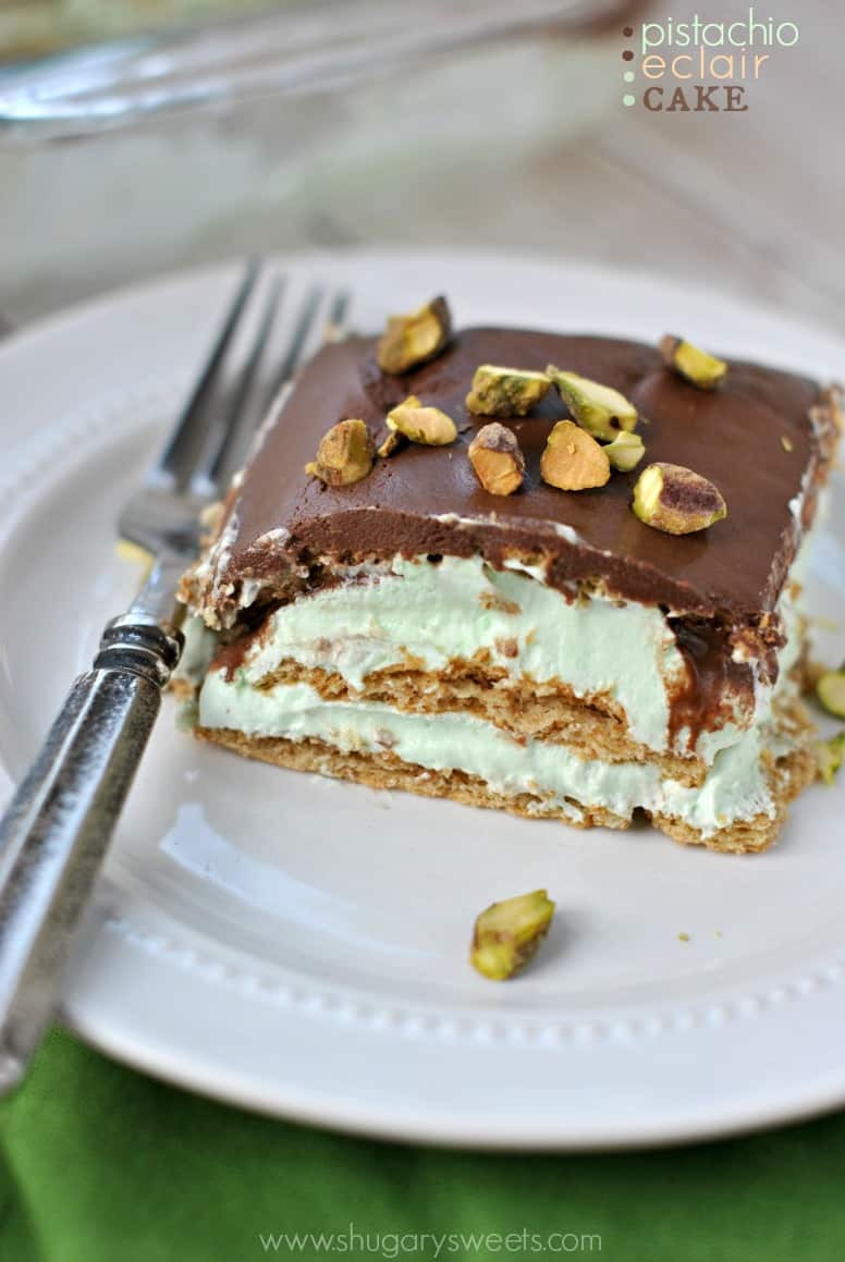 Eclair Cake Recipe  Pistachio Eclair Cake Shugary Sweets