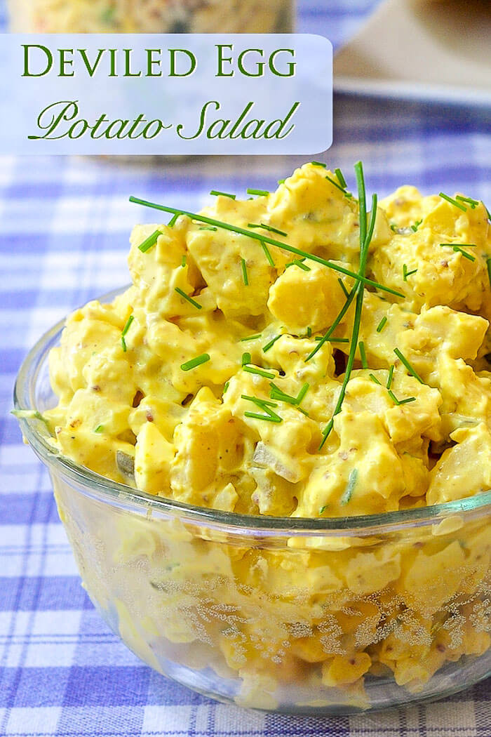 Egg Potato Salad  Deviled Egg Potato Salad a great year round side dish