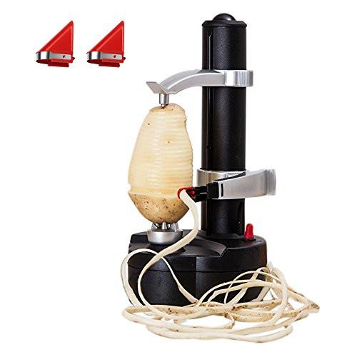 Electric Potato Peeler  LOHOME Electric Potato Peeler [2 Extra Blades] Automatic