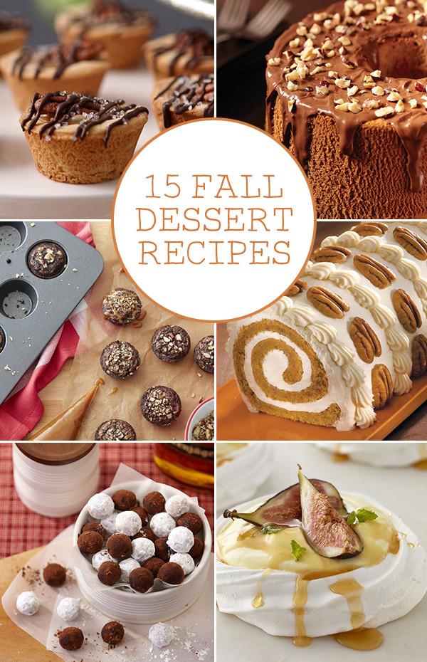 Fall Dessert Recipes  15 Fall Dessert Recipes