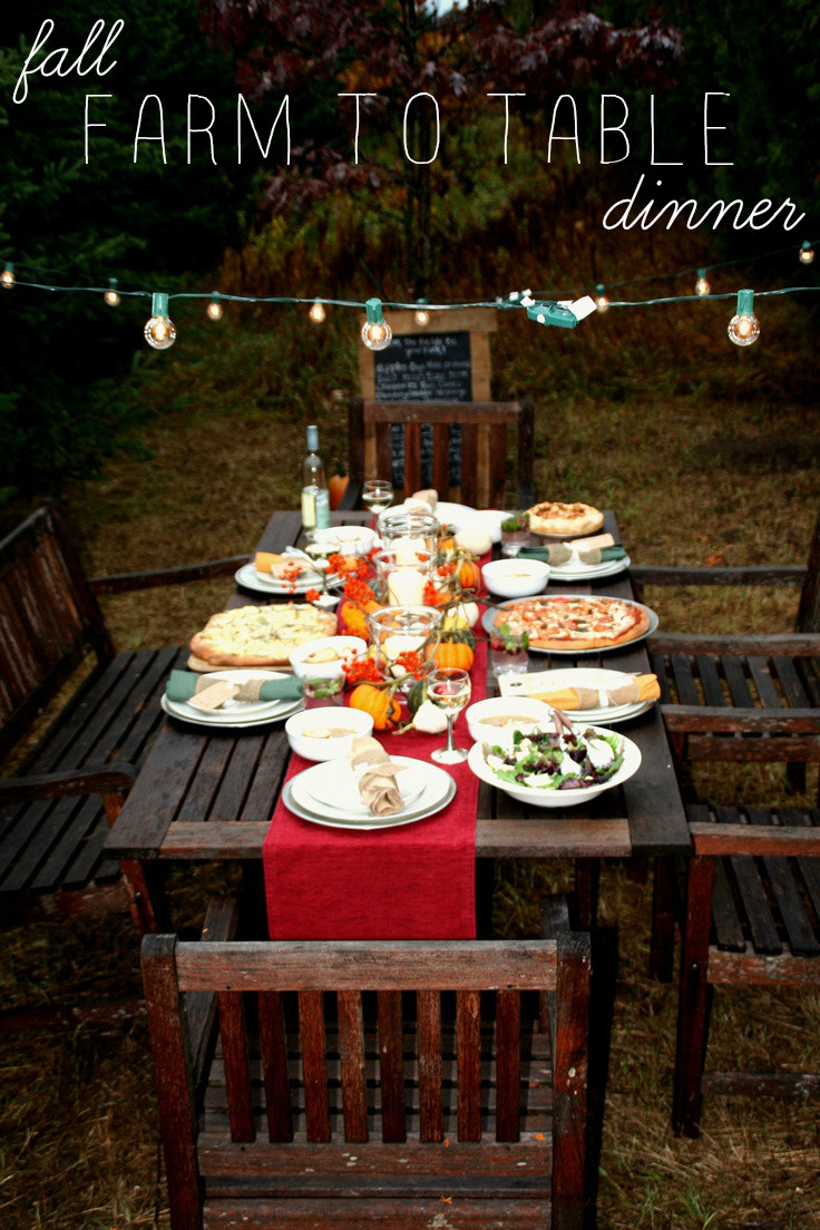 Farm To Table Dinner  La Petite Fashionista A Fall Farm to Table Dinner