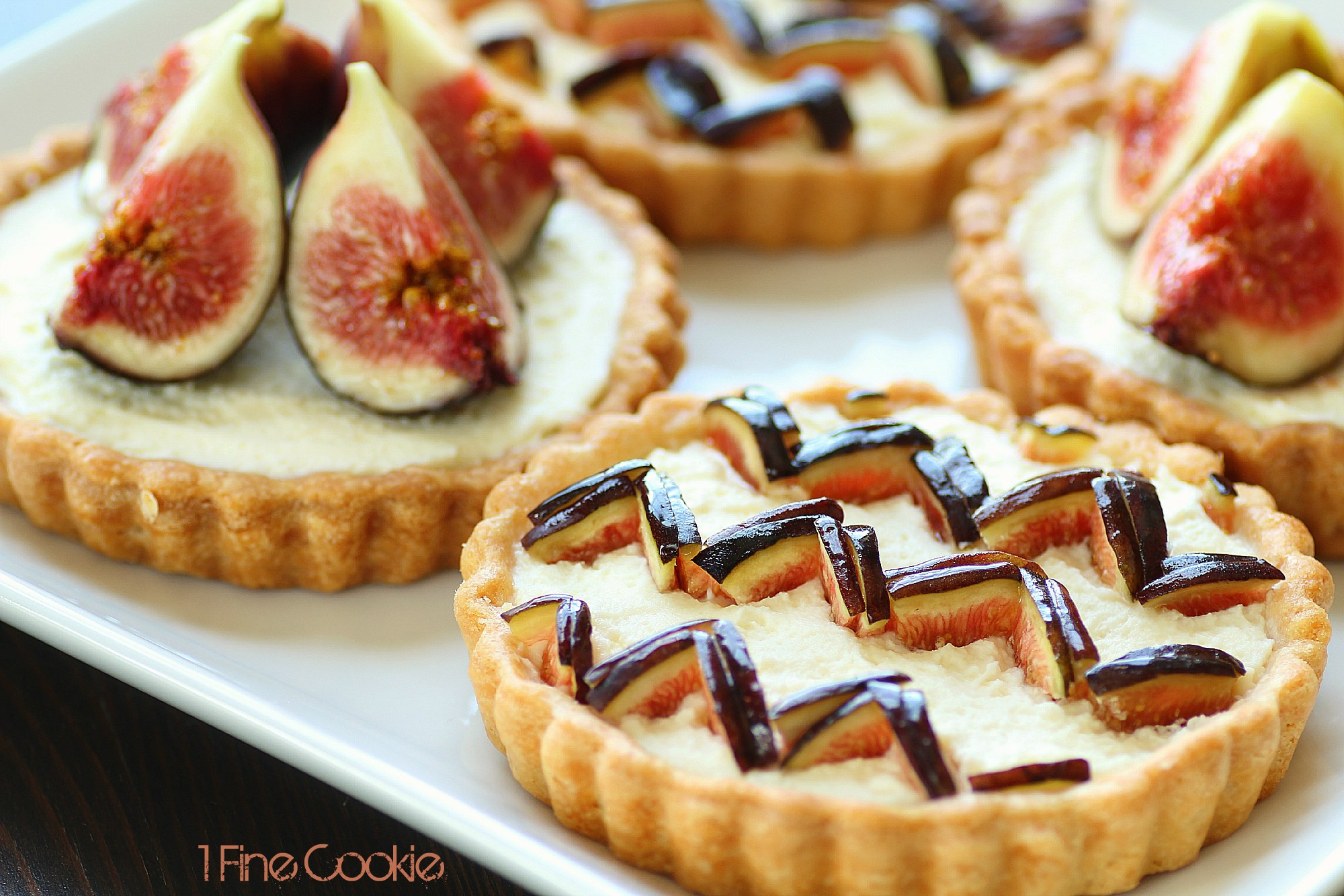 Fig Dessert Recipes  Chevron Pattern Fig Tart Preppify your Dessert 1 Fine